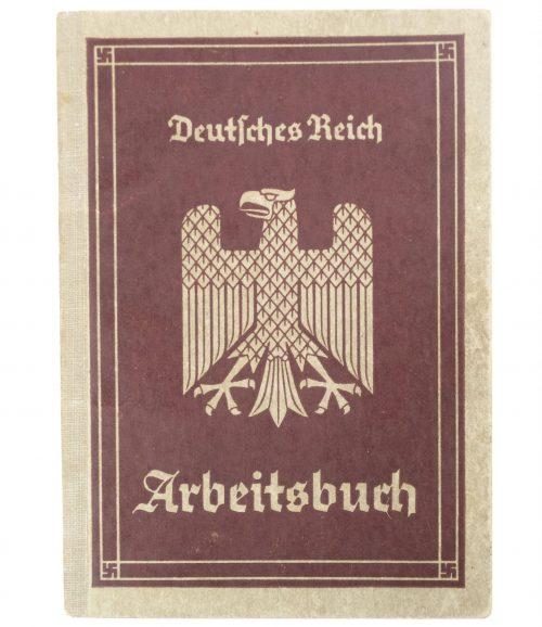 Arbeitsbuch Arbeitsamt Mühlhausen (1935) - VERY FULL FILLED IN!