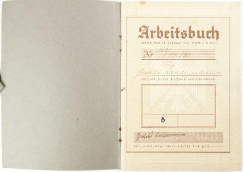 Arbeitsbuch Arbeitsamt Saarlouis (1935)