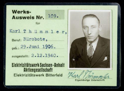 Arbeitsbuch + Werksausweis + Merkblatt (1940)