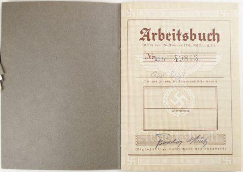 Arbeitsbuch from Arbeitsamt Kaiserslautern (1941)