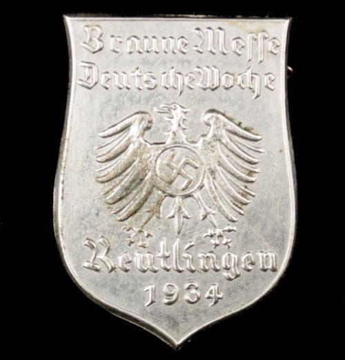 Braune Messe Deutsche Woche Reuthlingen 1934 abzeichen