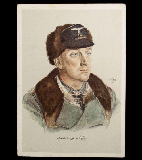 Postcard: W. Willrich Hauptmann Hans Detleff von Soffel (RK recipient)