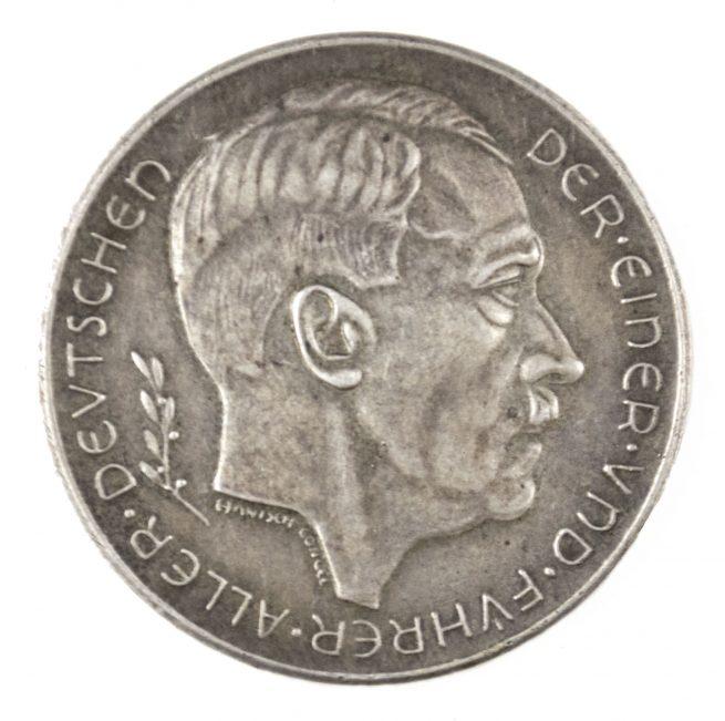 Der Einer und Führer aller Deutschen Das Grossdeutsche reich ist Erstanden 13.3.1938 - 29.9.1938 tablemedal