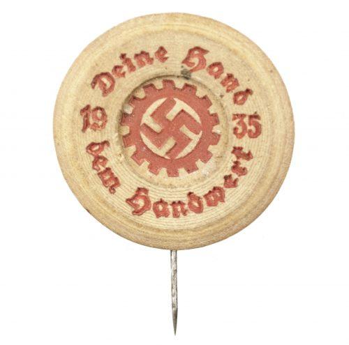 Deutsche Arbeitsfront (DAF) Deine Hand dem Handwerk 1935 abzeichen