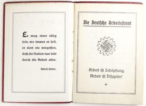 Deutsche Arbeitsfront (DAF) Mitgliedsbuch with 103 contribution stamps