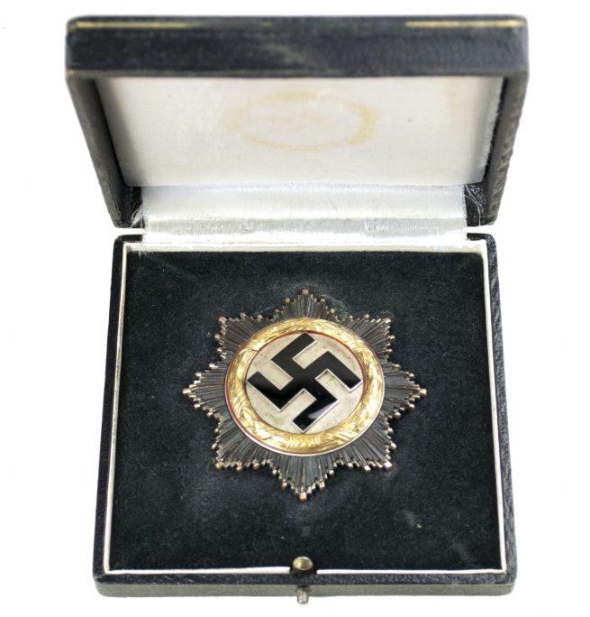 """Deutsches Kreuz in Gold (DKIG) """"Heavy"""" in early case by maker """"20"""" (Zimmermann)"""