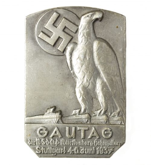 Gautag der NSDAP Württemberg Hohenzöllrn Stuttgart 4.-6. Juni 1937 abzeichen