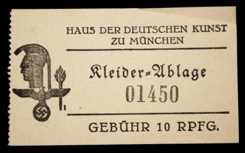 Haus der Deutschen Kunst 1933 abzeichen + entrance ticket