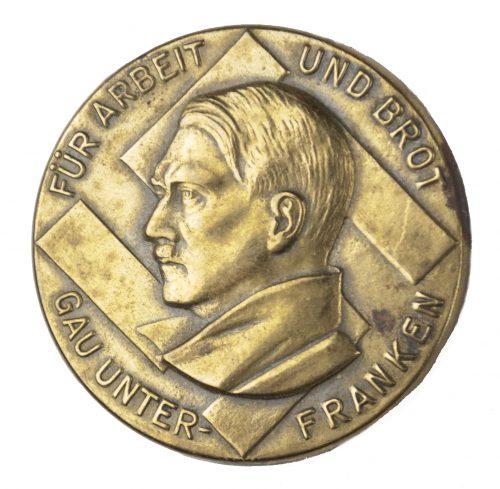 Hitler badge: Gau Unterfranken Für freiheit und Brot