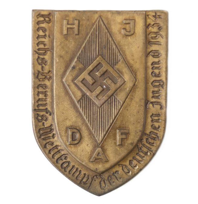 Hitlerjugend – HJ Reichsberufswettkampf der Deutsche Jugend 1934 abzeichen
