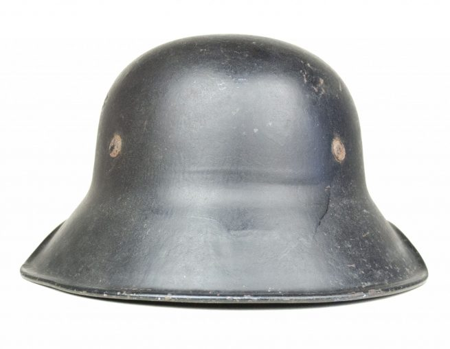 "Luftschutz ""last ditch"" helmet in one part with chinstrap"