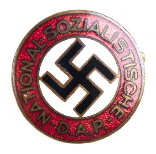 NSDAP Parteiabzeichen by Steinhauer & Lück (early badge fullmaker marked!)