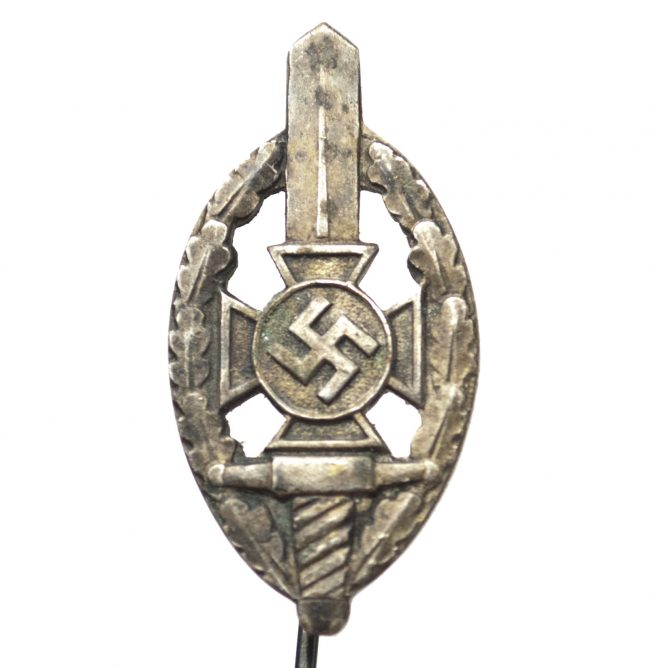 National Sozialistische Kriegsopferversorgung (NSKOV) memberbadge stickpin (by maker Deschler)