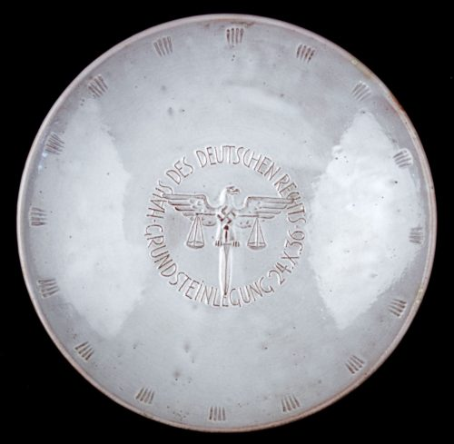 Plate: Haus des Deutschen Rechts: Grundsteinlegung 24.X.36