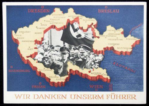Postcard: Sudetenland Annexaton on 1 oktober 1938