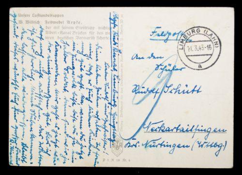Postcard: W. Willrich Feldwebel Arpke