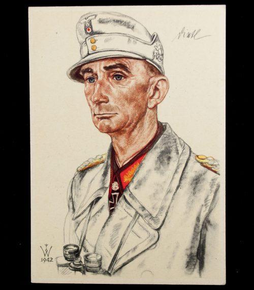 Postcard: W. Willrich Generaloberst Dietl