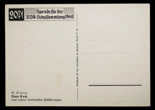 Postcard: W. Willrich Major Roch Einer Unserer Verdientesten Fallschirmjäger
