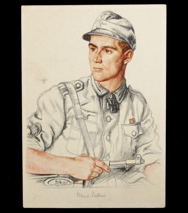 Postcard: W. Willrich Ritterkreuzträger Feldwebel Baltiner