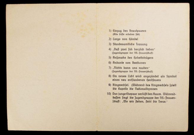 SS-Nordland weddinggroup from Hasselfelde 1945 (With Nahkampfspange in wear)