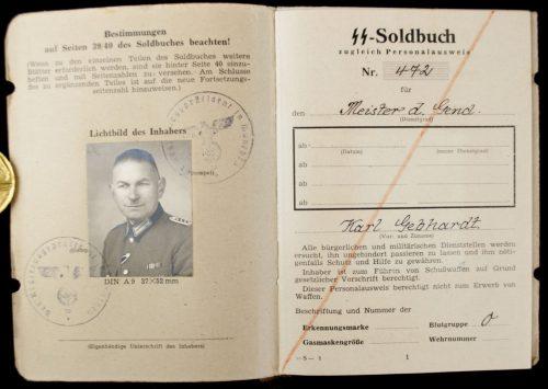 SS Soldbuch Meister der Gendarmerie 1944-1945 (many medals)