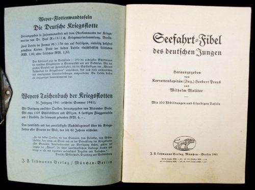WWII Seefahrt Fibel der Deutschen Jungen (1941)