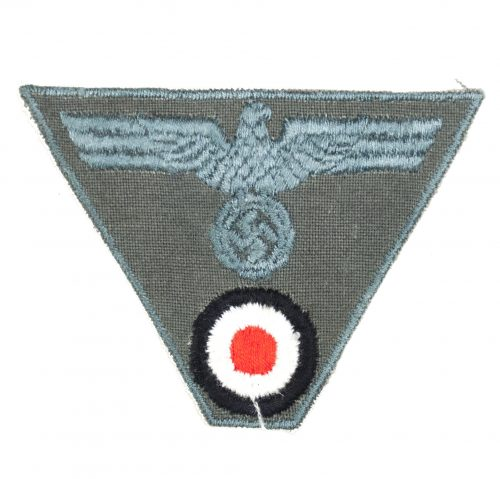 Wehrmacht (heer) M43 trapezoid cap badge