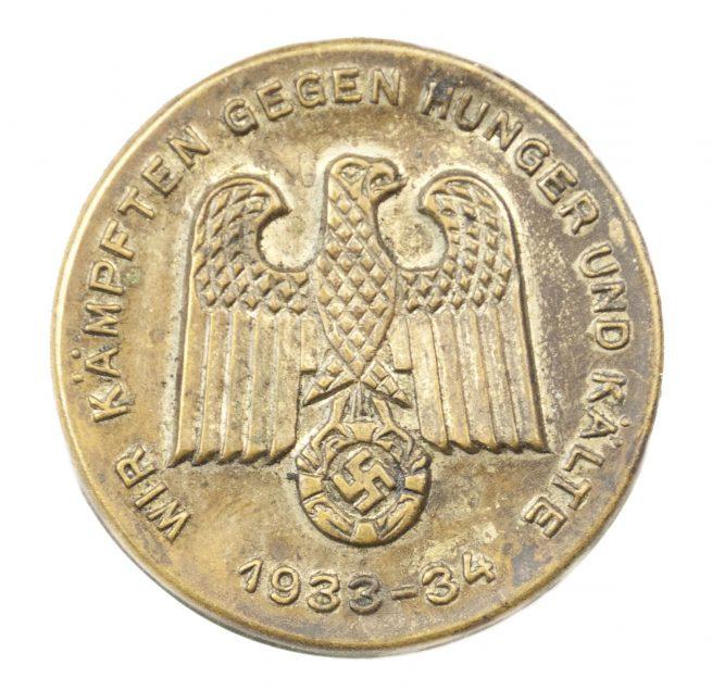 Winterhilfswerk (WHW) 1933-34 Wir Kämpften gegen Hunger und Kälte abzeichen