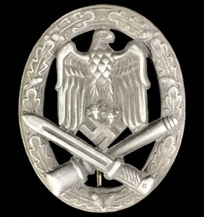 Allgemeines Sturmabzeichen (ASA) General Assault badge (GAB) hollow (maker Otto Schickle)