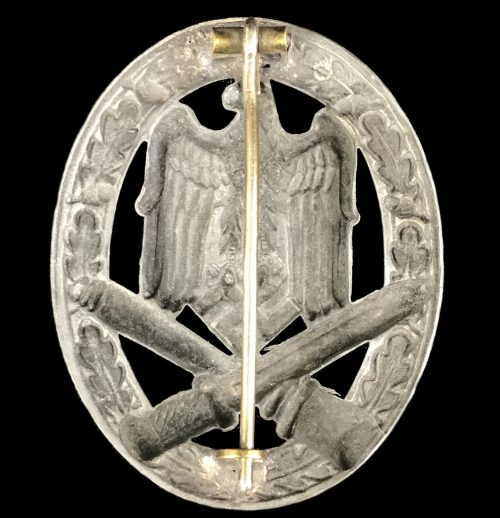 Allgemeines Sturmabzeichen (ASA) General Assault badge (GAB) hollow (maker Otto Schickle)