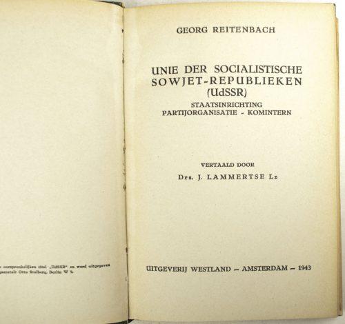 Book Oostland-reeks - Unie der Socialistische Sowjet-Republieken UDSSR (with Map!)