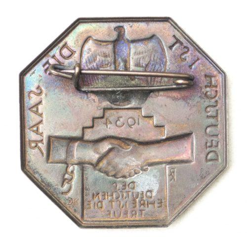 Deutsch ist die Saar 1934 abzeichen