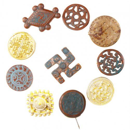 Deutsche Kulturvölker complete series of ancient German sunwheelswastika designs