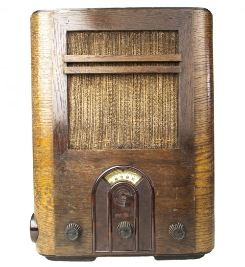 German-WWII-Early-WOOD-Volksempfanger-Braun-Radio-VE301G-1933-1945-