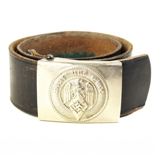 Hitlerjugend (HJ) Assmann marked belt + buckle