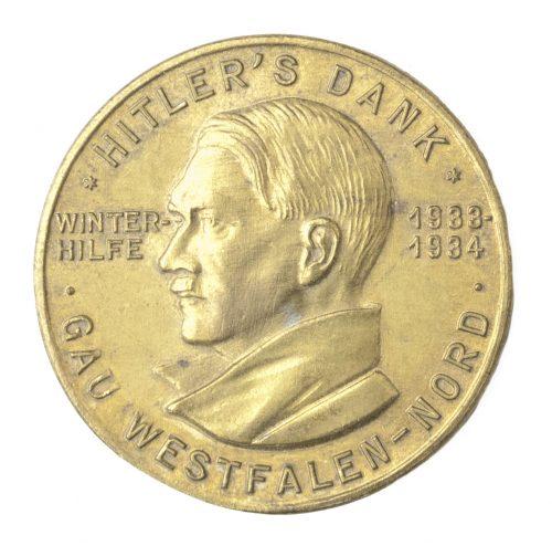 Hitlers Dank Gau Westfalen Nord Winterhilfse 1933-1934