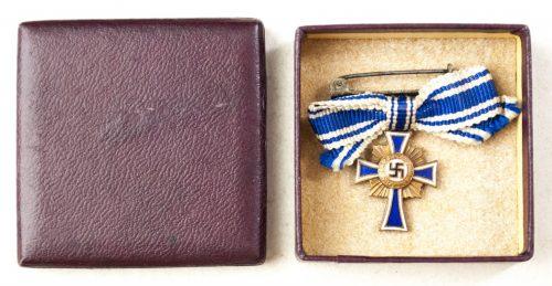 Mutterkreuz Bronze Miniature in LDO etui Motherscross Miniature in LDO case