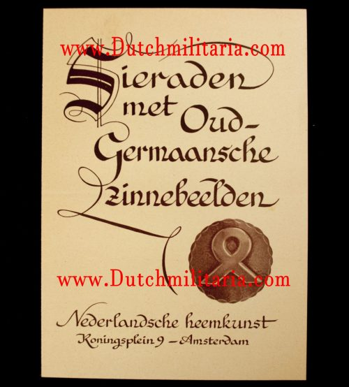 (NSB) Nederlandsche Heemkunst catalog for cultural runic brooches (RARE!)