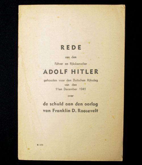 (NSB) Rede van den Führer en Rijkskanselier Adolf Hitler (1941)
