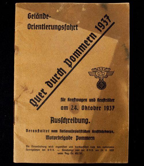 NSKK Gelände Orientierungsfahrt Quer durch Pommern 1937