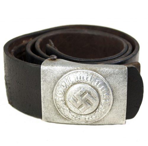 Police NCO ParadePrivat Belt Buckle + belt
