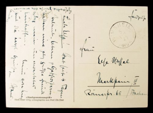 Postcard Handgranatenangriff