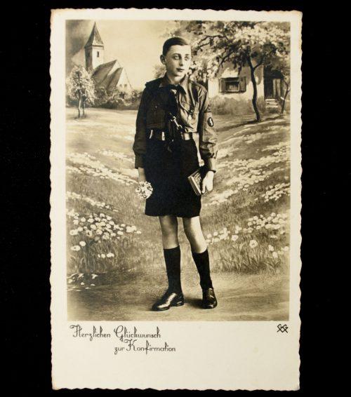 Postcard Hitlerjugend (HJ) Herzlichen Glückwunsch zur Konfirmation
