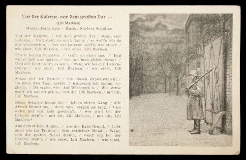 Postcard Lily Marleen - Vor der Kaserne, von dem grossen Tor