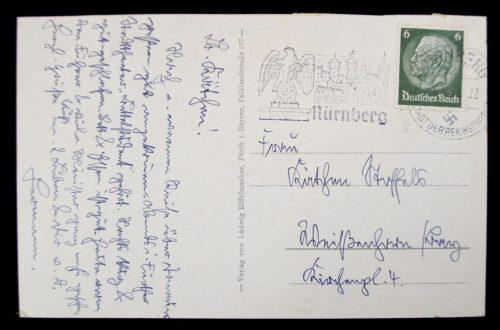 Postcard Nürnberg Reichsparteitaggelände, Zeppelinfeld Ehrentribune in der Luitpoldarena