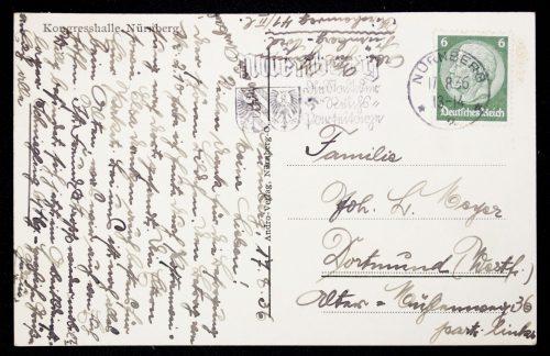 Postcard Reichsarteitag Kongresshalle Nürnberg