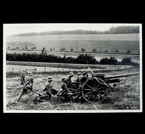 Postcard Unsere Reichswehr Artillerie in Stellung