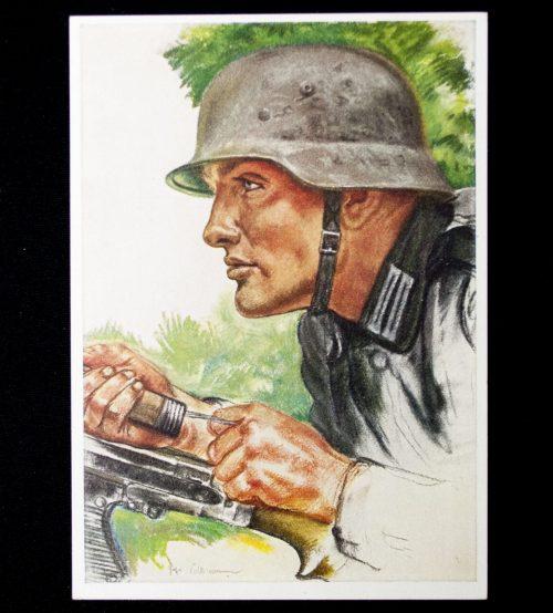 Postcard Willrich - Ein Panzerpionier