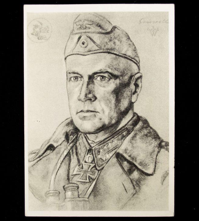 Postcard Willrich - Generalleutnant Crüwell