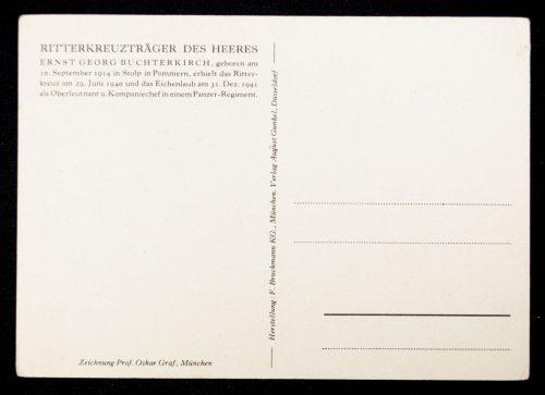Postcard Willrich - Ritterkreuzträger des Heeres Ernst Georg Buchterkirch